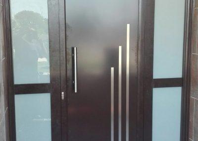 puerta bicolor