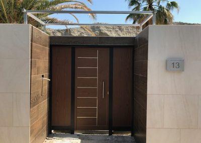 puerta entrada con paneles