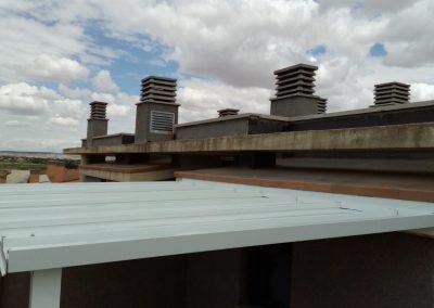 techo panel cubierta blanco